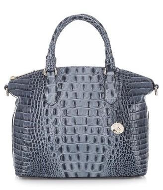 Brahmin 'Medium Duxbury' Croc Embossed Leather Satchel - Blue $275 thestylecure.com