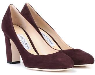 0ae2b951e37 Jimmy Choo Red Suede Pumps - ShopStyle
