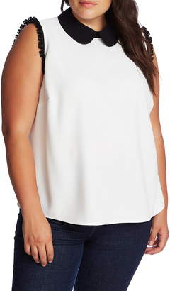 CeCe Lace Trim Sleeveless Top