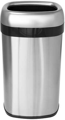 iTouchless 16-Gal. Commercial-Grade Dual-Deodorizer Stainless Steel Trash Can