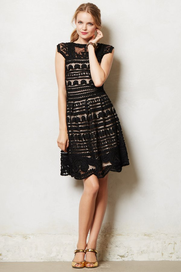 Anthropologie Soutache Swirl Dress