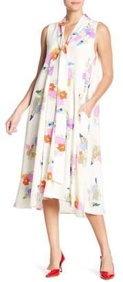 Tibi Camellia Silk Printed Dress