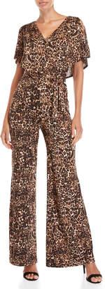 Bebe Leopard Print Jumpsuit