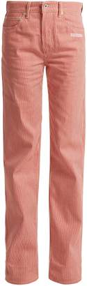 Off-White Striped high-rise straight-leg jeans