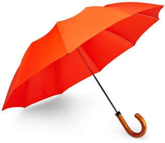 London Undercover Maple Wood-Handle Telescopic Umbrella - Men - Orange