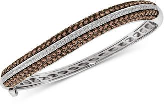 LeVian Le Vian Red Carpet Diamond Bangle Bracelet (6-3/8 ct. t.w.) in 14k White Gold