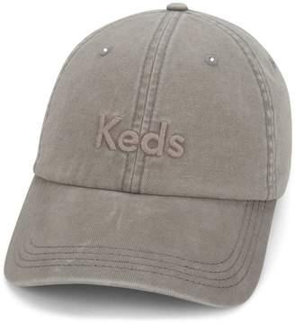 Keds Women's Embroidered Logo Washed & Brushed Cotton Baseball Cap