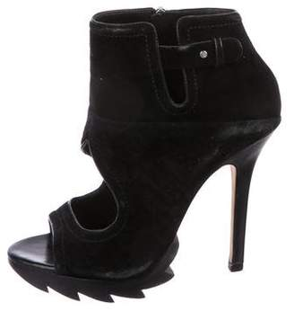 Camilla Skovgaard Leather Peep-Toe Ankle Boots
