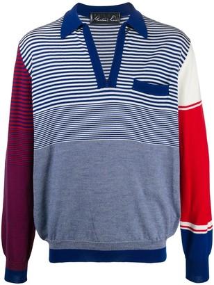 Martine Rose contrast striped-print jumper