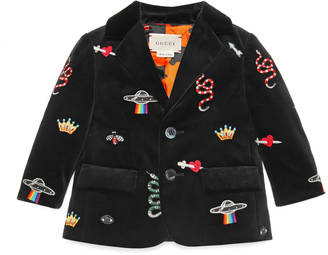 Baby velvet jacket with embroidery details $1,050 thestylecure.com