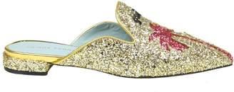 Chiara Ferragni Sabot Glitter suite Life Gold Color