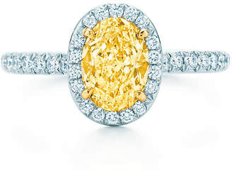Tiffany & Co. Soleste yellow and white diamond ring