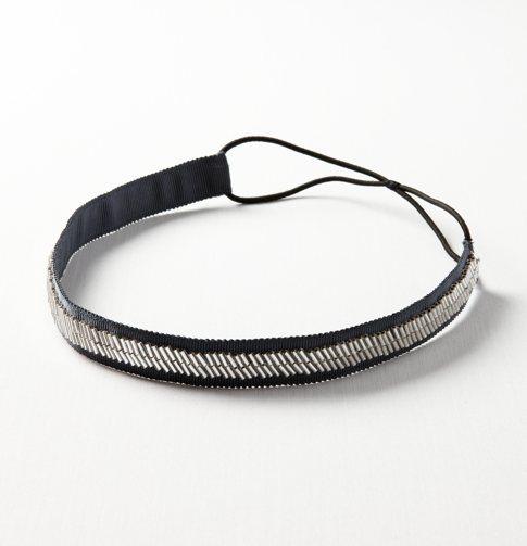 Bugle Bead Elastic Headband