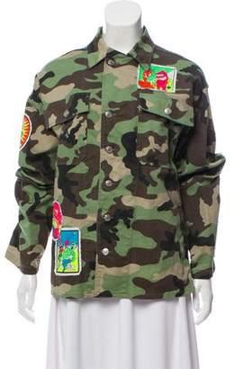 Jeremy Scott Embroidered Camouflage Jacket
