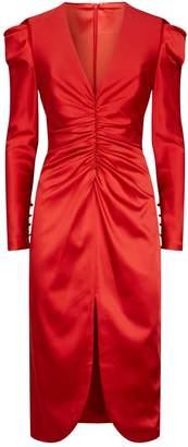 Jonathan Simkhai Ruched Satin Dress