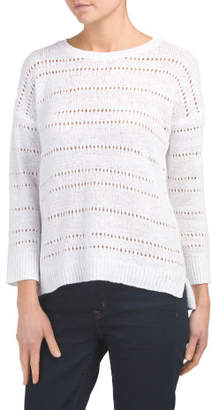 Drop Shoulder Boxy Pullover Sweater