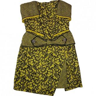 Gianni Versace Yellow Cotton - elasthane Dress for Women