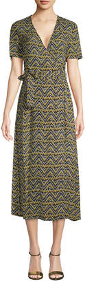 A.L.C. Asa Wrap Midi Dress
