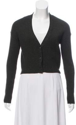 Prada Wool Rib Knit Cardigan