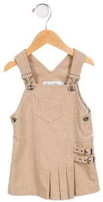 Christian Dior Girls' Wool-Blend Overall Dress