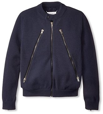 Maison Martin Margiela Men's Zipper Front Sweater Jacket $2,350 thestylecure.com