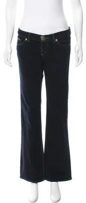 DKNY Low-Rise Wide-Leg Jeans