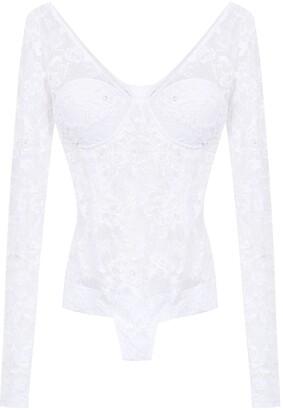 AMIR SLAMA lace long sleeved swimsuit