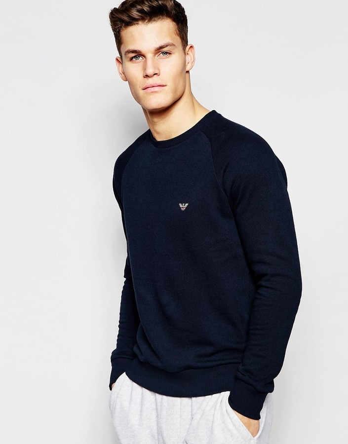 Emporio Armani Sweat in French Terry In Regular Fit