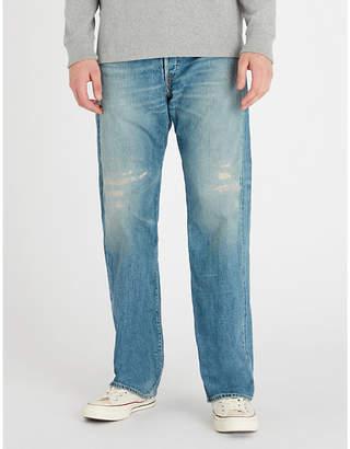 RRL Regular-fit faded straight-leg jeans