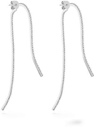Paige Novick Infinity Sculptural 18k White Gold & Diamond Pave 2-Part Earrings