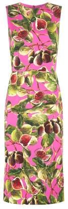 Dolce & Gabbana Fig Print Sheath Dress