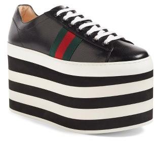 Women's Gucci Peggy Platform Sneaker $950 thestylecure.com