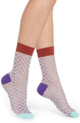 Hysteria By Happy Socks Cesca Metallic Crew Socks