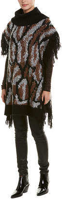 BCBGMAXAZRIA Cowl Wool-Blend Tunic