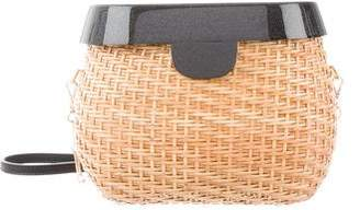 Edie Parker Jane Wicker Basket Bag