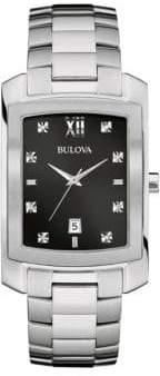 Bulova Stainless Steel & Diamond Bracelet Watch