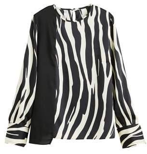 MANGO Zebra print blouse