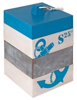 Nautical Anchor Storage Box in Blue