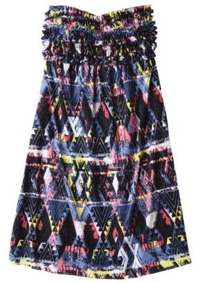 Xhilaration Junior's Ruffle Cover-Up Swim Dress -Tribal Print