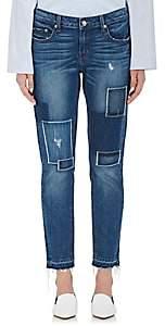 Derek Lam 10 Crosby Women's Mila Patchwork Boyfriend Jeans-Blue