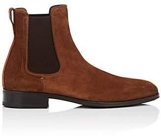 Salvatore Ferragamo Men's Darien Suede Chelsea Boots - Lt. brown