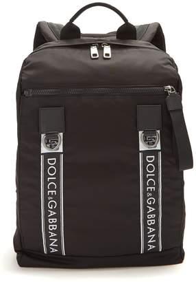 Dolce & Gabbana Logo leather-trimmed backpack