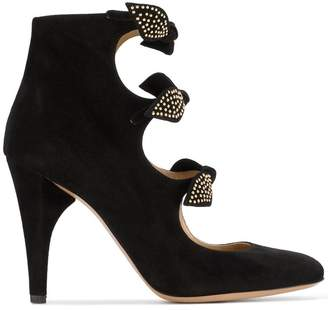 Chloé Black Mike 100 Suede ankle boots