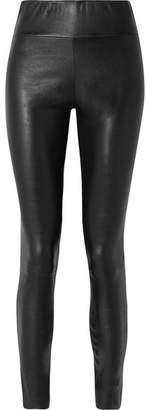 SPRWMN - Stretch-leather Leggings - Black