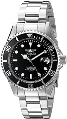 Invicta Men's 8932OB Pro Diver Analog Quartz Silver Stainless Steel Watch $395 thestylecure.com