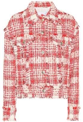 MSGM Plaid cotton-blend jacket