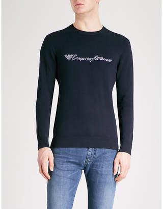 Emporio Armani Script logo knitted jumper