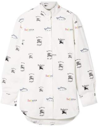 Burberry Printed Cotton-blend Poplin Shirt