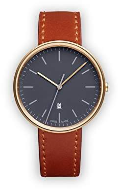 Uniform Wares M38 Swiss Quartz Stainless Steel and Brown Leather Watch