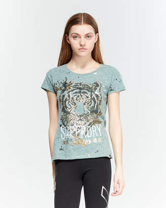 Superdry Tiger Splatter Slim Tee